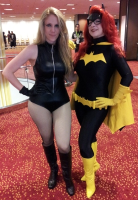 Batgirl & Black Canary cosplay - DragonCon 2012