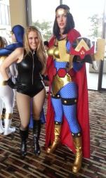 Big Barda & Black Canary cosplay - DragonCon 2012