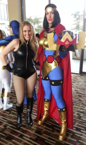 Big Barda & Black Canary cosplay - DragonCon 2012