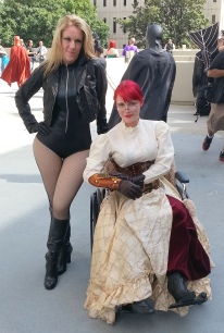 Black Canary & Oracle cosplay - DragonCon 2012
