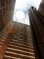 Looking up at the Hyatt Regency Atlanta