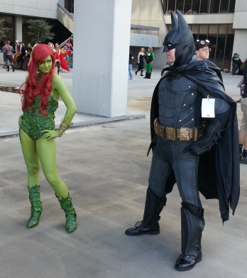 Poison Ivy & Batman cosplay - DragonCon 2012