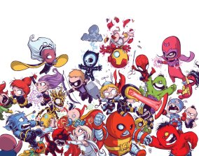 Avengers vs. X-Men Babies by Skottie Young