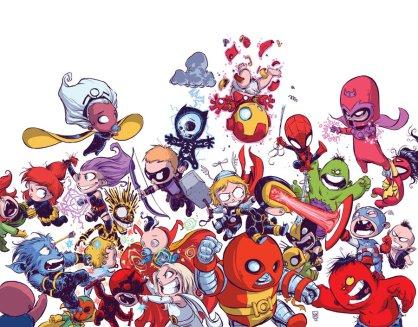 Avengers vs. X-Men Babies by Skottie Young