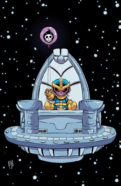 Thanos Baby by Skottie Young