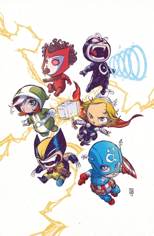 Uncanny Avengers Babies by Skottie Young