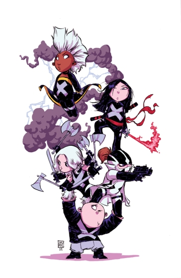 Uncanny X-Force Babies by Skottie Young
