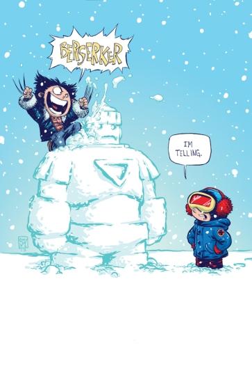 Wolverine & Cyclops Babies by Skottie Young