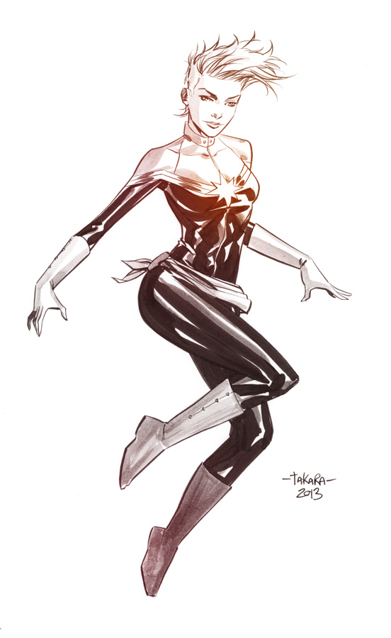 Captain Marvel by Marcio Takara