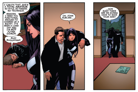 Psylocke saves John Sublime - X-Men #8