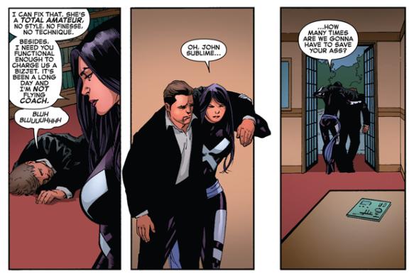 Psylocke saves John Sublime - X-Men #8