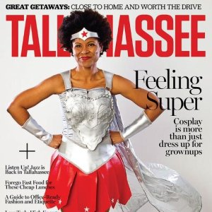 Erika on the cover of Tallahassee Magazine