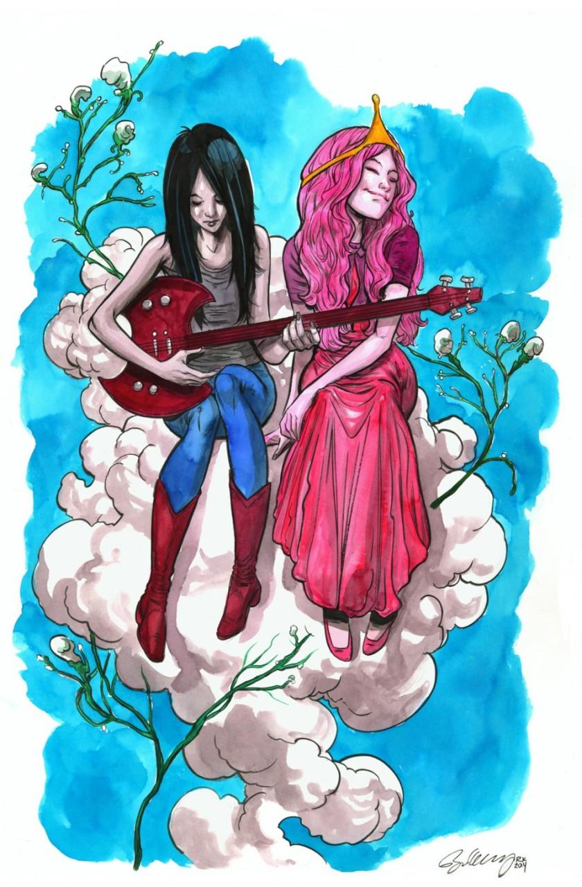 Marceline the Vampire Queen & Princess Bubblegum by Ryan Kelly