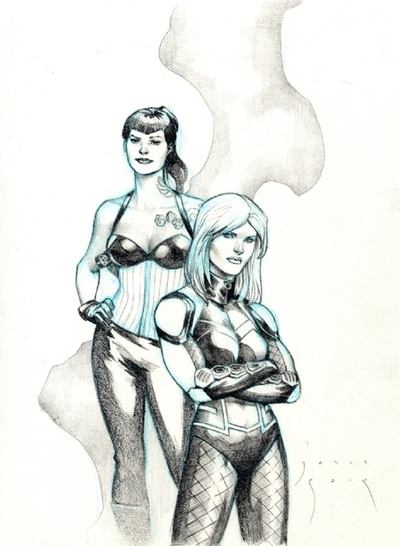 Starling and Black Canary by Jesus Saiz