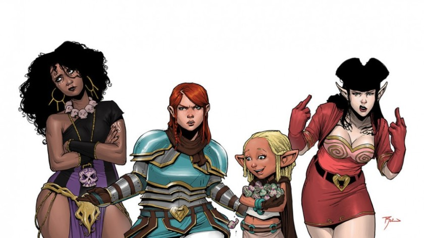 Dee, Violet, Betty and Hannah - Rat Queens by Roc Upchurch