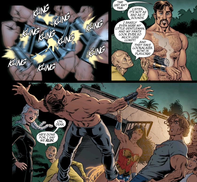 Secret Six #12 Deadshot v. Wonder Woman