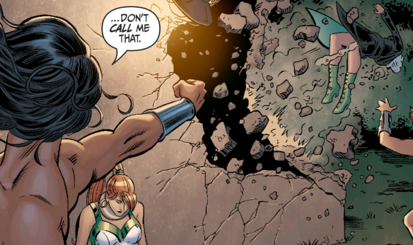 Secret Six #12 Wonder Woman punches Jeannette