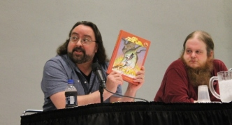 Bryan J. L. Glass (The Mice Templar), Justin Jordan (The Strange Talent of Luther Strode, Green Lantern: New Guardians), Image Writers panel