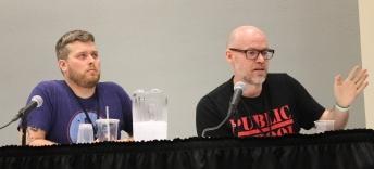 Dennis Hopeless (Avengers Undercover), Jason Latour (Wolverine & the X-Men), Marvel Writers panel