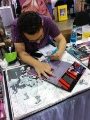 Joe Quinones sketching Canary for V.