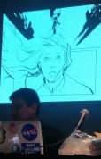 Preview of Marcio Takara's Captain Marvel art, Carol Corps panel