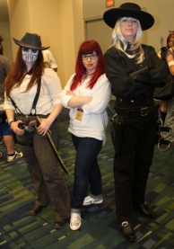 Pretty Deadly cosplayers with the character creator, Kelly Sue DeConnick