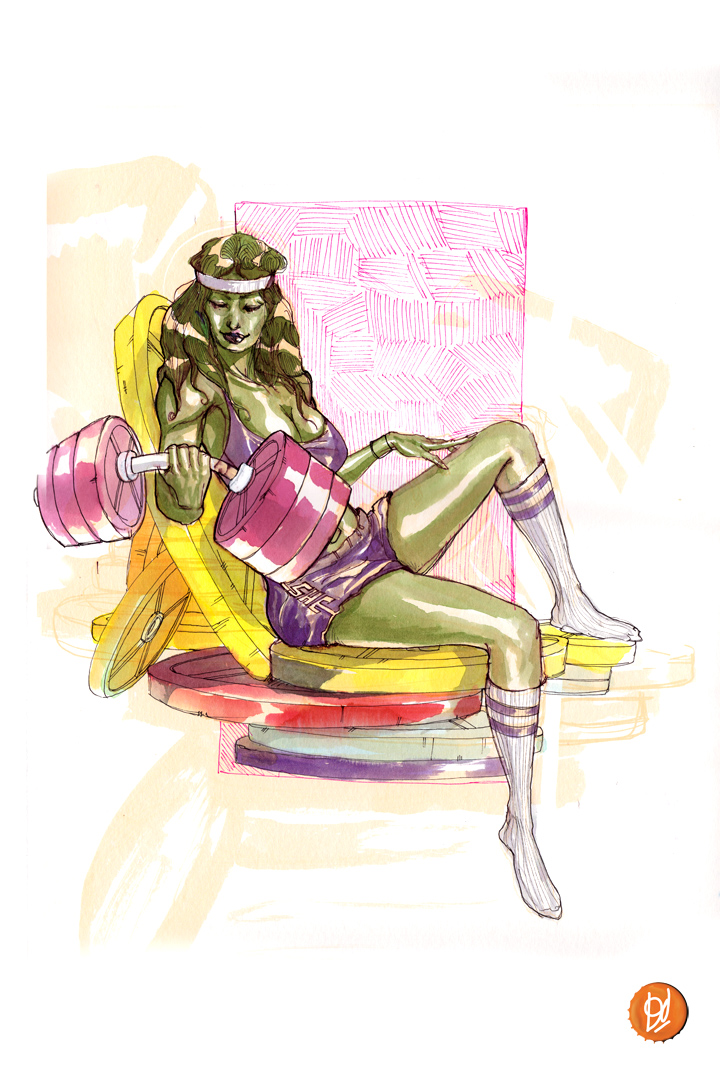 "She-Hulk by ""Deadly Mike"" Del Mundo"