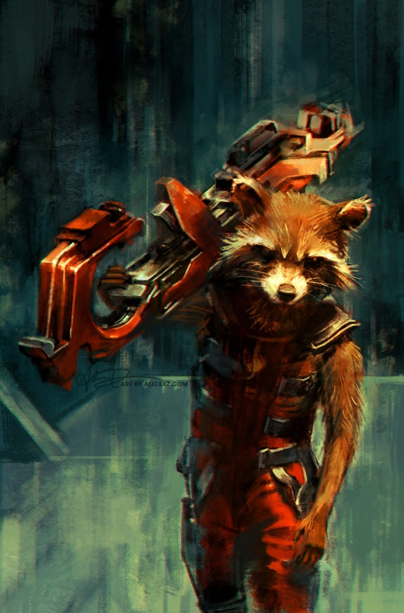 Rocket Raccoon by Alice X. Zhang