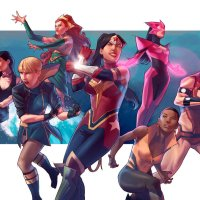 All Female JUSTICE LEAGUE