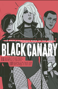 Black Canary band poster