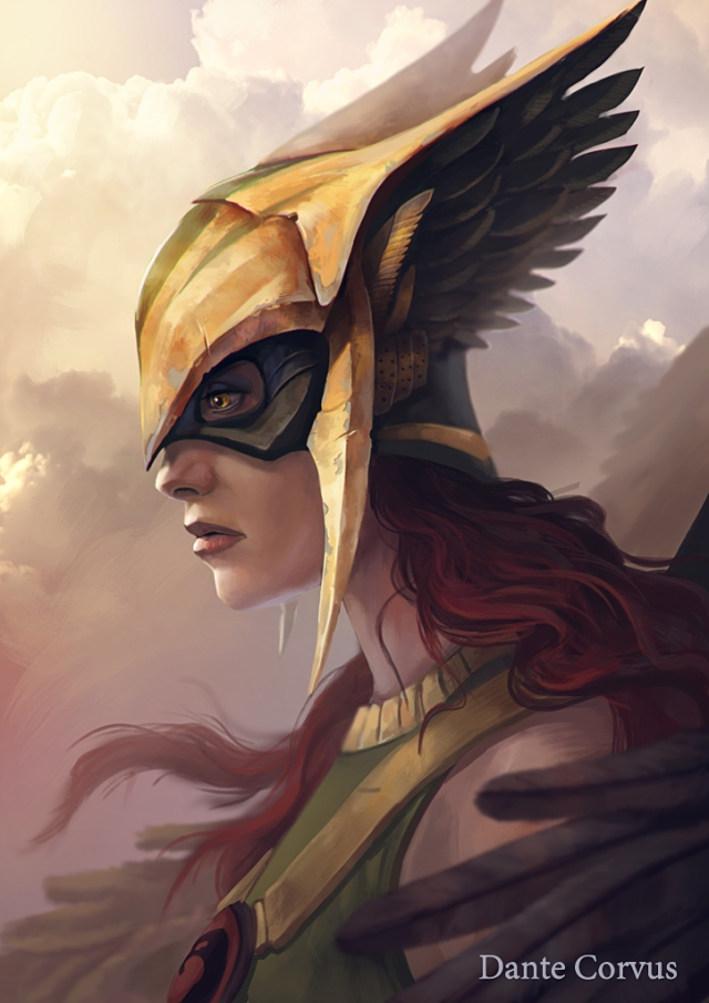 Hawkgirl by Dante Corvus