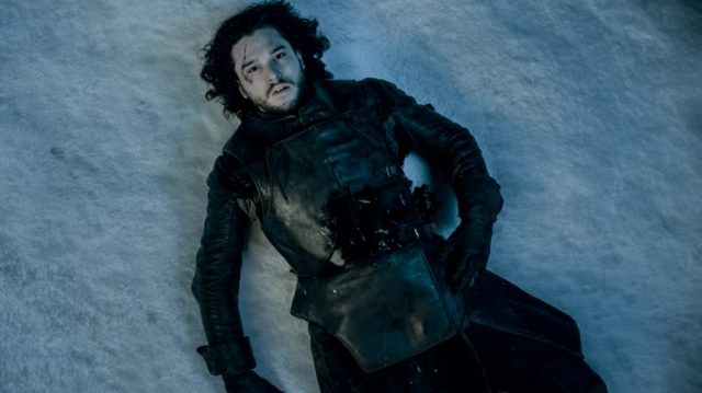 jon snow dead in the snow